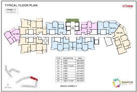 bhartiya city typical floor plan