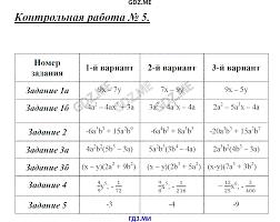 ГДЗ контрольные работы по алгебре класс Глазков Гаиашвили  Контрольная работа №5