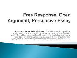 response open argument persuasive essay ppt   response open argument persuasive essay
