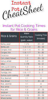 Crock Pot Time Chart Instant Pot Cooking Times Free Cheat Sheets Instant Pot