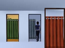 sliding curtain cubicle door