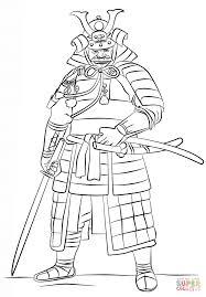 Samurai Coloring Pages Samurai Wearing An Yoroi Coloring Page Free ...