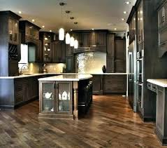 black cabinets white countertops dark kitchen with light oak cabinet metal frame quartz c