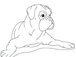 Boxer Dog Coloring Pages Boxer Dog Coloring Pages At Free Printable