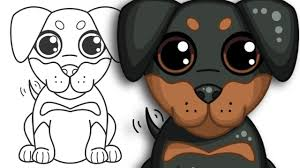 Small Picture How to draw a Puppy Step by Step Drawing YouTube