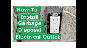 how to install garbage disposal electrical outlet box how to install garbage disposal electrical outlet box