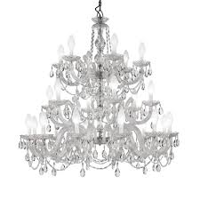 large outdoor cut crystal chandelier