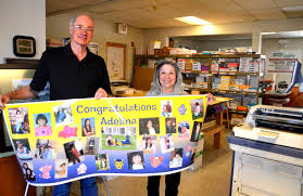 business profile accu copy in española valley daily post accu copy owners ken and janette beesley opened accu copy 27 years ago here they hold up a graduation party banner they are giving away as part of a