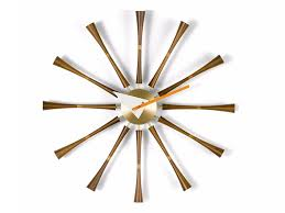wall mounted clock spindle clock by vitra