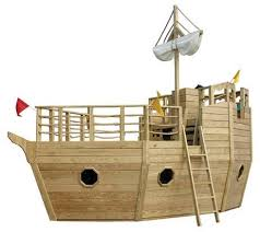 wooden pirate ship playhouse