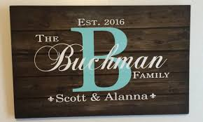 personalized monogram wooden wall art