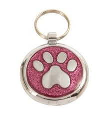 to decorate your dog s collar this luxury glitter pink paw print designer dog is the ultimate gift in designer pet identification jewellery