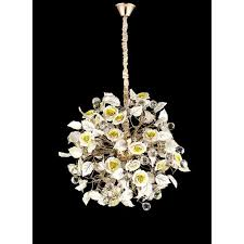contemporary chandelier brass porcelain crystal