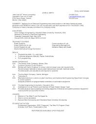 electrical engineer resume sample experienced pdf electrical    resume template
