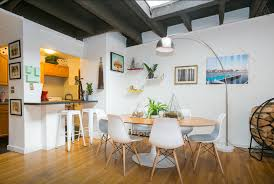 nyc apartment furniture. view in gallery west village penthouse apartment dining area with white chairs nyc furniture