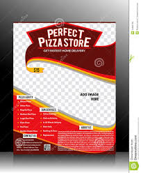 Sales Flyers Templates Perfect Pizza Store Flyer Template Stock Vector Illustration Of
