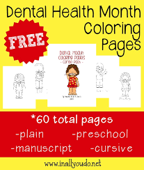 Get printouts of these images and provide them to your kids for coloring. Dental Health Month Coloring Pages In All You Do
