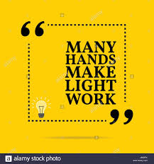 Many Hands Make Light Work Many Hands Make Light Work Stock Vector Images Alamy