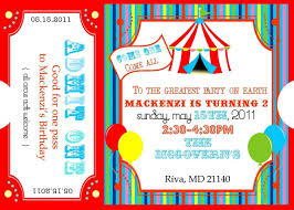 Invitation Ticket Template Free Printable Carnival Ticket Invitations Logan's 24st Birthday 21
