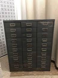 Vtg 1940 50s simmons furniture metal medical Freestanding Vintage Steelmaster 30 Drawer Metal Cabinet Diy Network Vintage Metal Cabinet Ebay