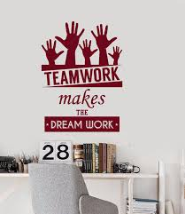 teamwork office wallpaper. New Wall Vinyl Decal Quotes Teamwork Dream Work Office Inspire Words Bedroom Free Shipping-in Stickers From Home \u0026 Garden On Aliexpress.com   Alibaba Wallpaper