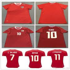 Best Football Jersey Design 2018 2018 World Cup Women Costa Rica Soccer Jersey 19 K Waston 12 Campell 10 Bryan 11 J Venegas Custom Mens Ladies Football Shirt
