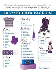 Travel Part 3 Pack List Outfits For Baby And Toddler House Mix