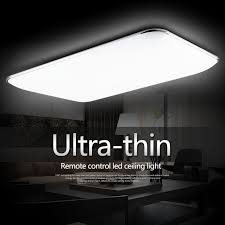 remote control ultra thin surface mounted led light fixture for living room and kids ceiling light led plafond in ceiling lights from lights lighting on