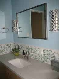 Glass Tile Backsplash In Bathroom - Tile backsplash in bathroom