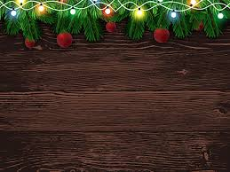 Wood With Lights Fox Wood Christmas Lights Vinyl Backdrop For Photos