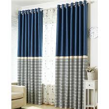 Inspiring Striped Blackout Curtains and Brief Navy Blue Blackout Living  Room Ready Made Striped Curtains