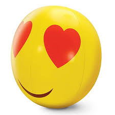 Beach Ball Smiling Face with <b>Heart</b>-<b>shaped</b> Eyes | Ebrain Gifts