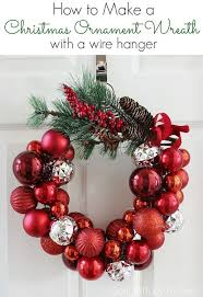 Decorating Wreath With Christmas Balls How to Make a Christmas Ornament Wreath With a Wire Hanger Hometalk 2
