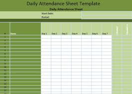 Attendance Tracking Spreadsheet | Aboutplanning.org