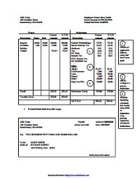 Free Pay Stub Template With Calculator Independent Contractor Pay