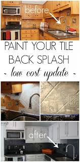 Painting Kitchen Tile Backsplash