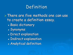 definition  there are five methods one can use to create a  1 definition  there