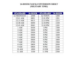 12 And 24 Hour Clock Template – Nortetic