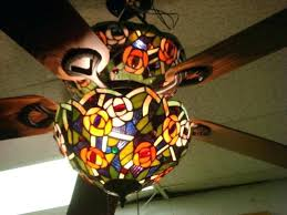 stained glass ceiling fan. Ceiling Fan Light Shades Glass With Stained Fans Lighting .