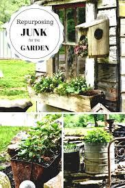repurposing junk for the garden best primitive decor ideas on inside garden junk ideas