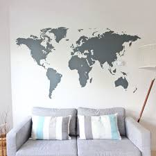 world map vinyl wall sticker stickers best of large decal