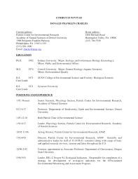CURRICULUM VITAE DONALD FRANKLIN CHARLES Current address: Home address:  Patrick Center for Environmental Research 1868 Bertram R
