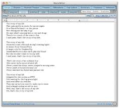 masterwriter  the lyrics editor is a basic word processor