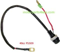 wire harness n fuse motorparts4less com 49cc cat eye fs509 pocket bike 3 4 inch fuse holder w longwired