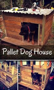 Rustic Pallet Dog House - BigDIYIdeas.com