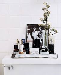 Bathroom Vanity Tray Decor Trays make almost anything look like it belongs Styled Interiors 62