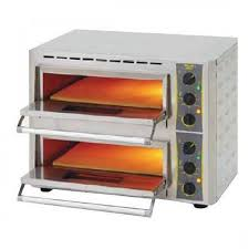 roller grill pz430d countertop double pizza oven with stone base