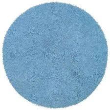 light blue chenille twist 3 ft x 3 ft round accent rug