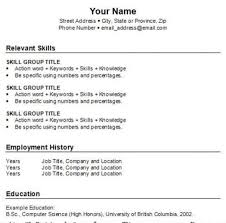 How To Make A Basic Resume. Free Resume Templates 20