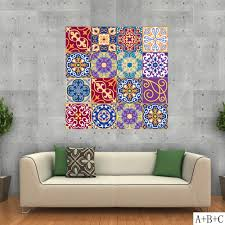 20x100cm DIY <b>Colorful</b> Wall Tiles <b>Stickers</b> Waist Line Wall <b>Sticker</b> ...